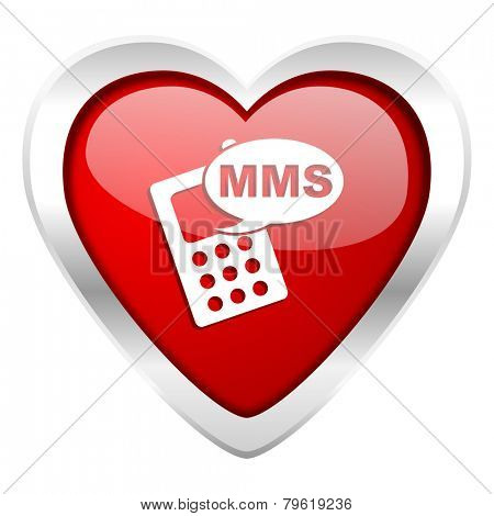 mms valentine icon phone sign