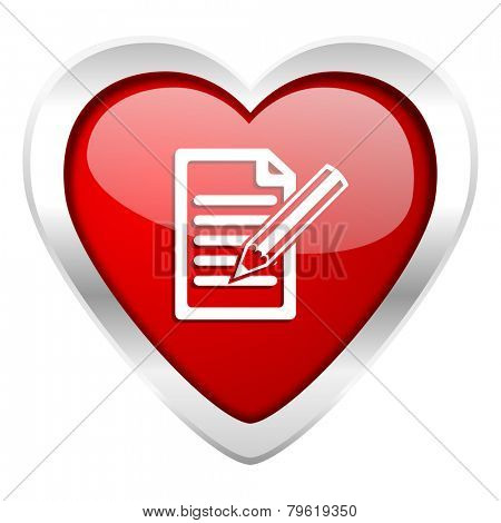 subscribe valentine icon write sign