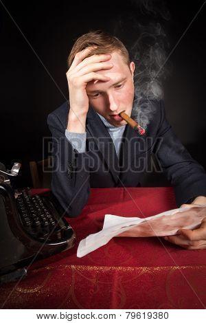 Noir Film Journalist At Work