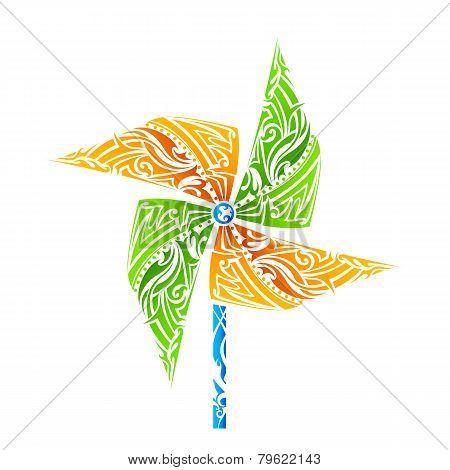India flag tricolor pinwheel
