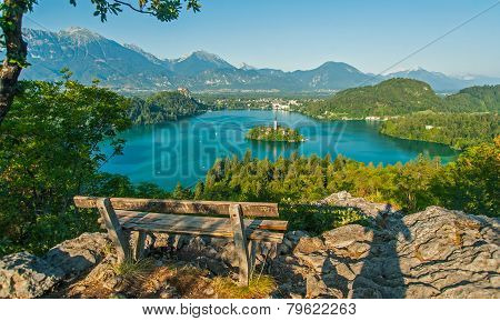 Lake Bled, view from above, Slovenia