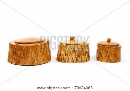 Casket From Birch Wood For Jewelry