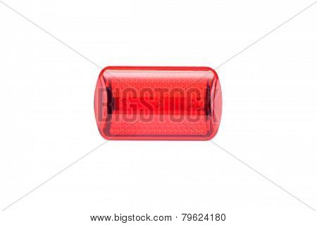 Red light bike reflector