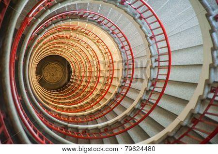 Snail stairs, neboticnik, Ljubljana, Slovenia