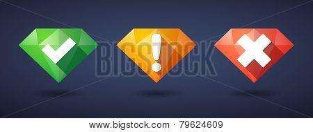Survey Diamond Icon Set