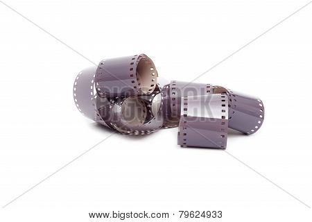 35Mm Color Film Strip Isolated On White Background