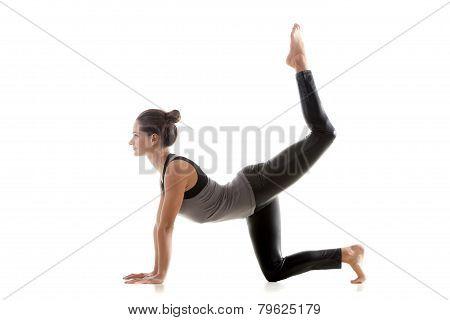 Sporty Girl Doing Rhythmic Gymnastics