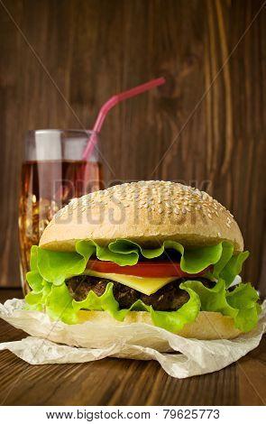 Big Tasty Cheeseburger With Cola