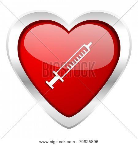medicine valentine icon syringe sign