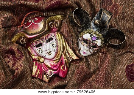 Two Masquerade Carnival Masks