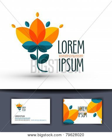 flower. Logo, icon, emblem, template, sign