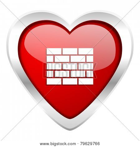 firewall valentine icon brick wall sign