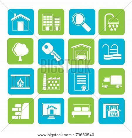 Silhouette Real Estate Icons