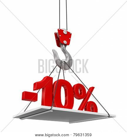 Percent On Crane Hook