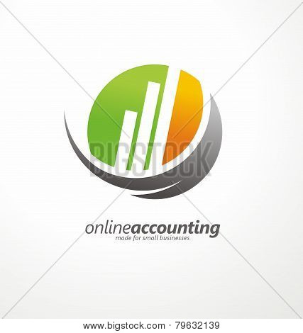 Vector concept for accounting company