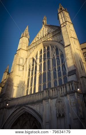 Sunlight on Winchester cathedral