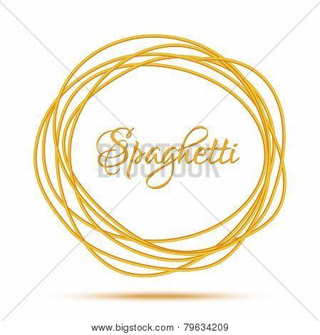 Realistic Twisted Spaghetti Pasta Circle Frame
