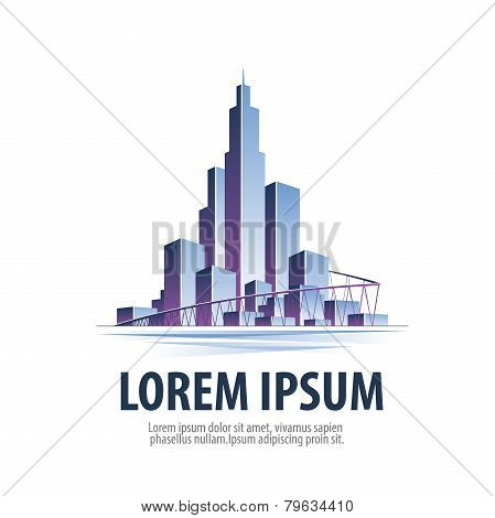 city.  logo, icon, emblem, template, sign