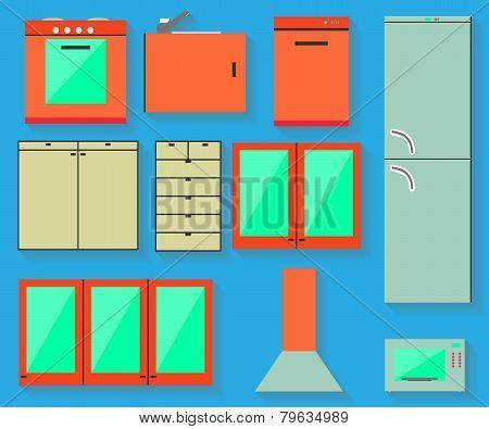 Accessories of kitchen design.
