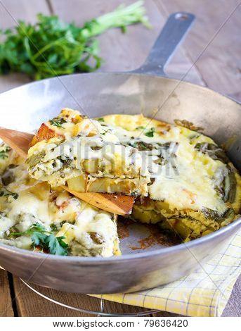Spinach And Potato Fritata