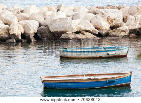 Fishing Boats In The Gulf Of Naples
