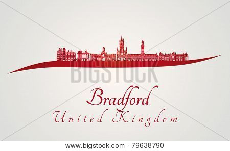 Bradford Skyline In Red