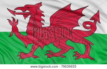 3D Flag of Wales