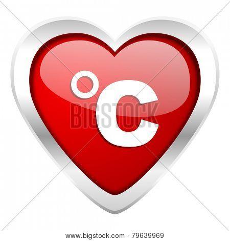 celsius valentine icon temperature unit sign