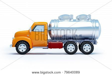 cartoon tanker truck side