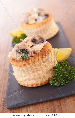 appetizer, vol au vent