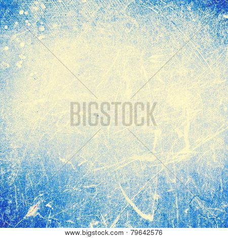 Bright   Abstract Textured Background  With Scratches Cyan Blue Color. Old Surface Backdrop  For You