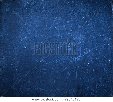 Abstract Grunge Background With Space For Text. Dark Blue  Grunge Textured Wall Closeup