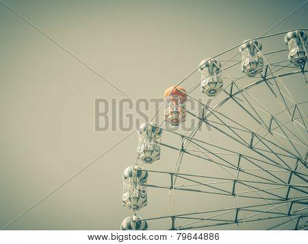 Ferris Wheel over  sky