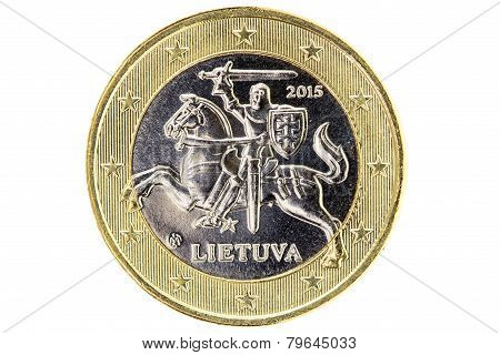 Lithuanian One Euro Coin