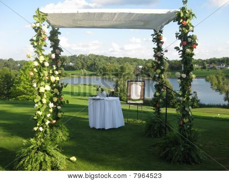 Chuppah for Jewish Wedding Ceremony