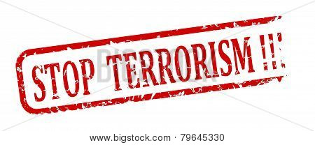 Red Stamp Stop Terrorism