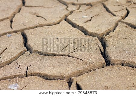 Closeup Of Dry Soil