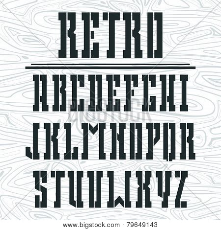 Stencil-plate Bold Serif Font In The Western Style