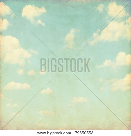 Grunge image of blue sky.