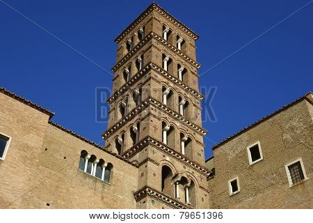 Romanesque Bell Tower In Rome