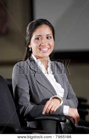 Portrait Of Mid-adult Hispanic Businesswoman