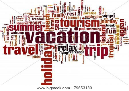 Vacation Word Cloud