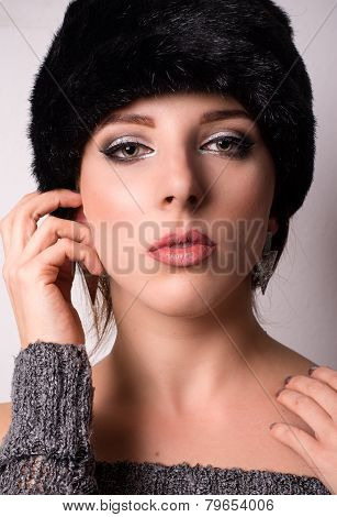Sophisticated Elegant Woman In Winter Fashion