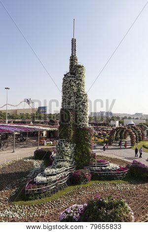 DUBAI, UAE - DECEMBER 23, 2014: Photo of Flower Park (Dubai Miracle Garden)
