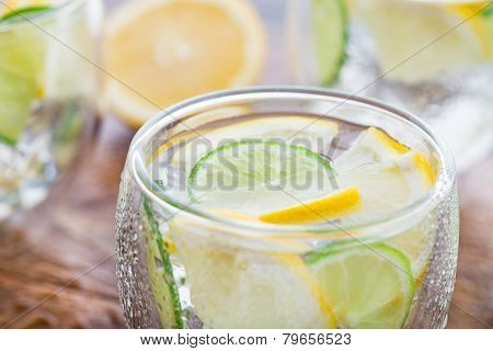 Cold fresh lemonade