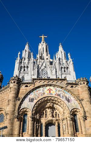 Sagrat Cor church at Mount Tibidabo