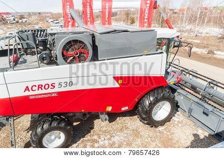 Agricultural machinery exhibition. Tyumen. Russia