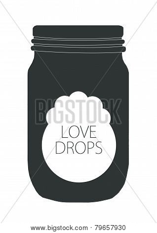 Love drops art jar
