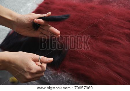 Felting Wool By Hand.
