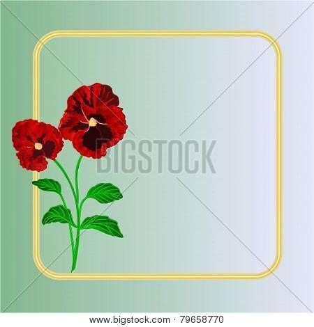 Pansies Spring Flowers Vector